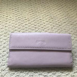 Coach leather wallet - BNWOT- Mint condition!